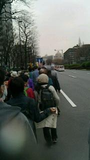 反原発の集会とデモ
