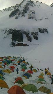 雪の涸沢初キャンプ