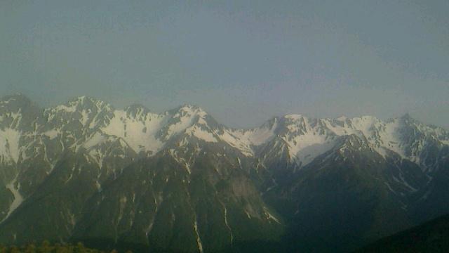 大滝山から徳本峠