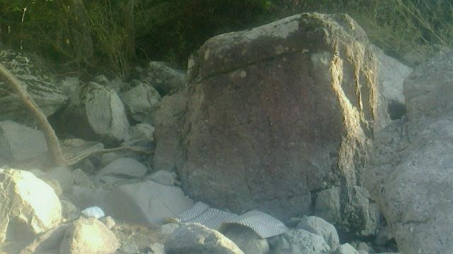 立川渓谷でボルダリング